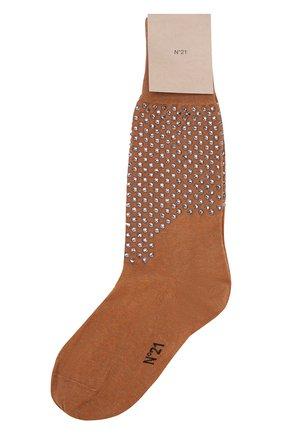 Хлопковые носки с декоративной отделкой | Фото №1