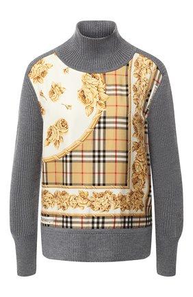 Шерстяной пуловер с принтом | Фото №1