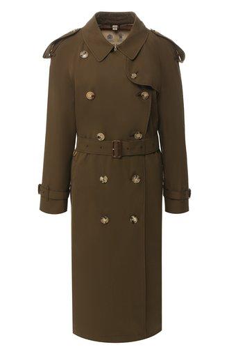 Хлопковое пальто с поясом