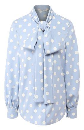 Шелковая блузка в горох | Фото №1