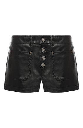 Кожаные мини-шорты   Фото №1