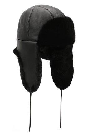 Норковая шапка-ушанка Мишка | Фото №1