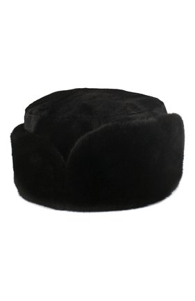 Норковая шапка-ушанка Бранд | Фото №1