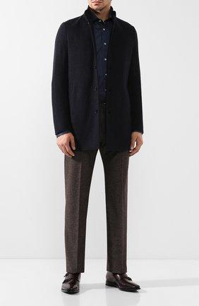 Мужской кашемировое пальто ANDREA CAMPAGNA темно-синего цвета, арт. A6T763/3815   Фото 2