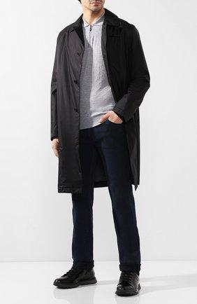 Мужское поло из смеси кашемира и шелка ANDREA CAMPAGNA светло-серого цвета, арт. AM02AI19   Фото 2