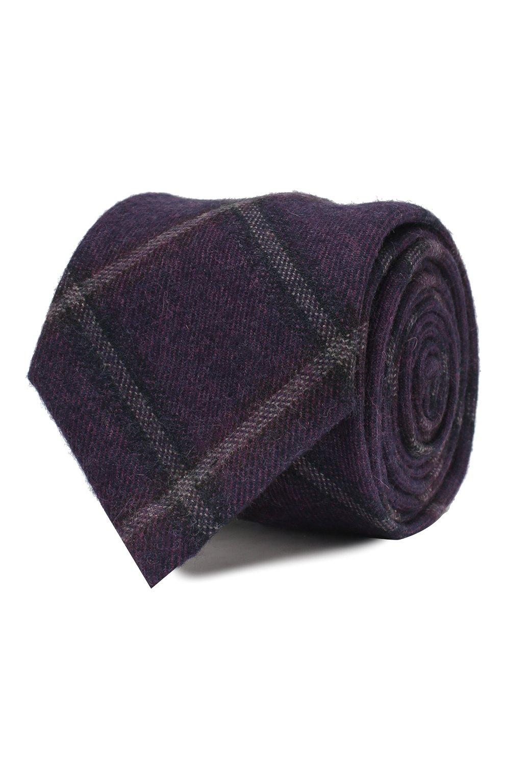Мужской галстук из смеси шерсти и шелка ANDREA CAMPAGNA фиолетового цвета, арт. 907014/TIES | Фото 1