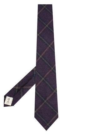 Мужской галстук из смеси шерсти и шелка ANDREA CAMPAGNA фиолетового цвета, арт. 907014/TIES | Фото 2