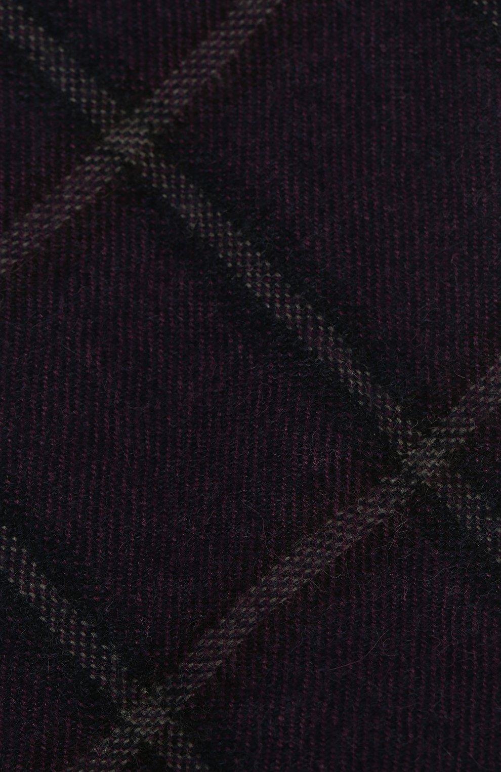 Мужской галстук из смеси шерсти и шелка ANDREA CAMPAGNA фиолетового цвета, арт. 907014/TIES | Фото 3