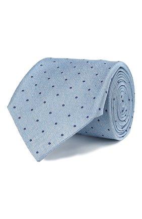 Мужской шелковый галстук ANDREA CAMPAGNA голубого цвета, арт. M103890/TIES | Фото 1