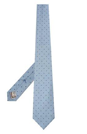 Мужской шелковый галстук ANDREA CAMPAGNA голубого цвета, арт. M103890/TIES | Фото 2