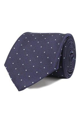 Мужской шелковый галстук ANDREA CAMPAGNA темно-синего цвета, арт. M103890/TIES | Фото 1