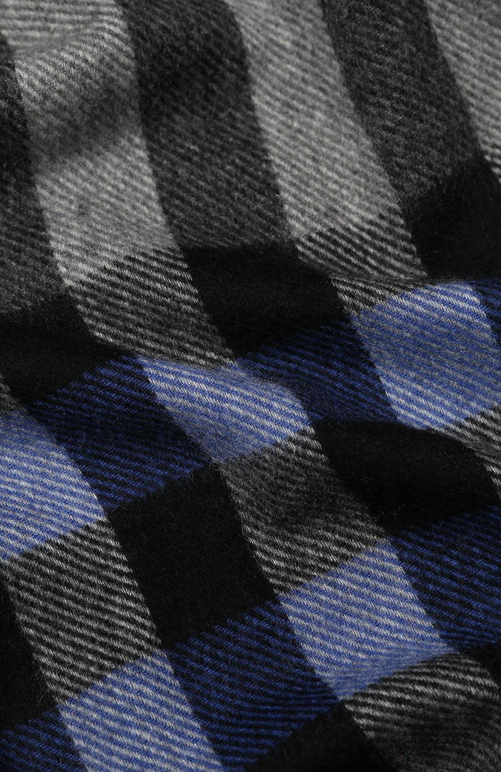 Мужской кашемировый шарф ANDREA CAMPAGNA голубого цвета, арт. 632324/SCARF   Фото 2