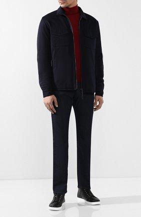 Мужские джинсы прямого кроя ANDREA CAMPAGNA темно-синего цвета, арт. ACB0859999   Фото 2