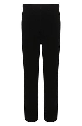 Мужской брюки из вискозы прямого кроя GIORGIO ARMANI черного цвета, арт. 8WGPP012/T0025 | Фото 1