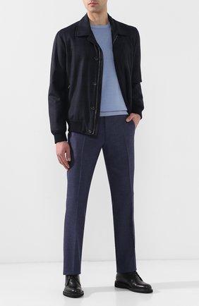 Мужские шерстяные брюки ANDREA CAMPAGNA темно-синего цвета, арт. SC/1/LP3249X | Фото 2