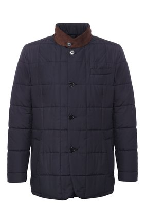 Мужская утепленная куртка ANDREA CAMPAGNA темно-синего цвета, арт. M6T726/3615   Фото 1
