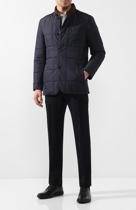 Мужская утепленная куртка ANDREA CAMPAGNA темно-синего цвета, арт. M6T726/3615   Фото 2