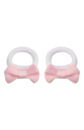 Детская комплект из двух резинок small bow JUNEFEE розового цвета, арт. 5525 | Фото 1