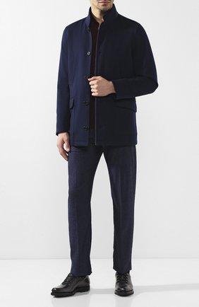 Мужские кожаные оксфорды на шнуровке BERLUTI синего цвета, арт. S3451-002 | Фото 2