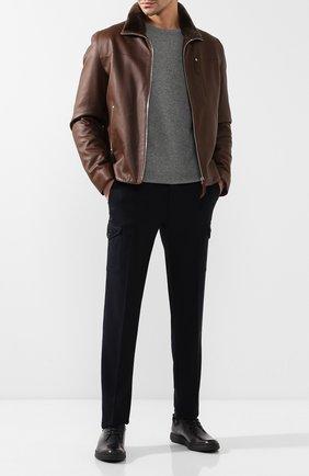 Мужской кожаные дерби BERLUTI черного цвета, арт. S4557-002 | Фото 2