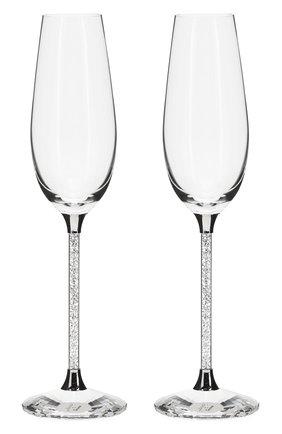 Мужского набор из 2-х бокалов для шампанского crys SWAROVSKI прозрачного цвета, арт. 255678 | Фото 1