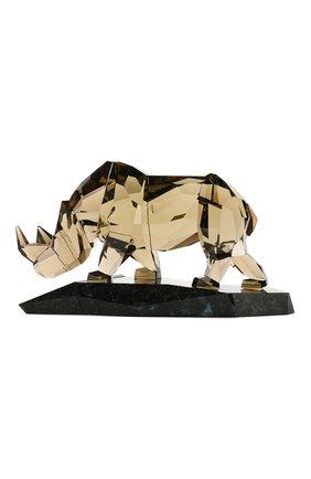 Мужского статуэтка rhinoceros SWAROVSKI желтого цвета, арт. 5136804 | Фото 1