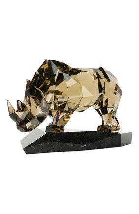 Мужского статуэтка rhinoceros SWAROVSKI желтого цвета, арт. 5136804 | Фото 2