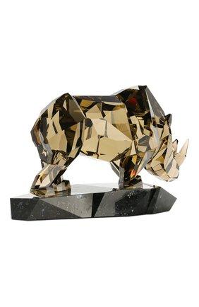 Мужского статуэтка rhinoceros SWAROVSKI желтого цвета, арт. 5136804 | Фото 3