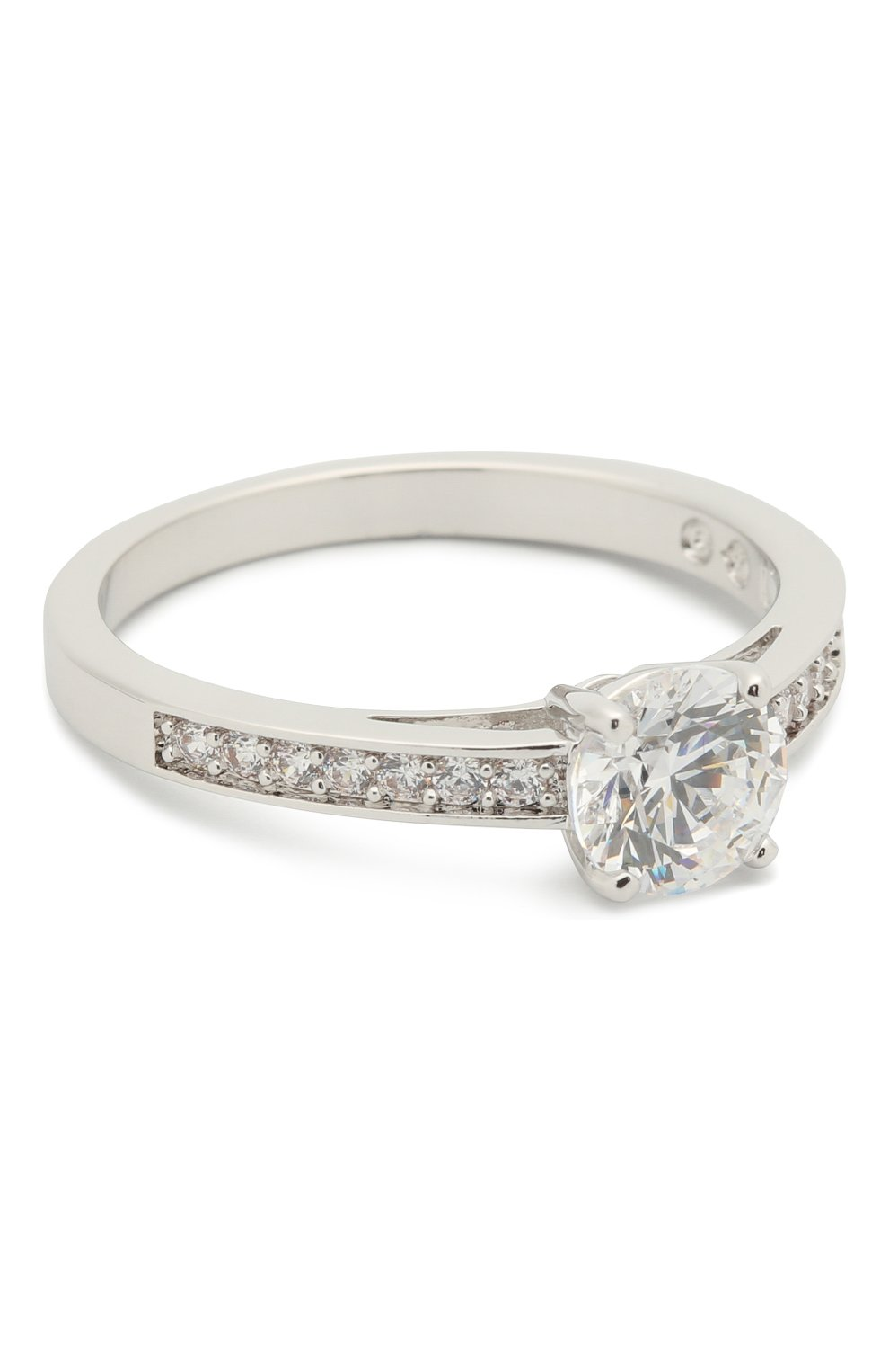 Женское кольцо attract round SWAROVSKI серебряного цвета, арт. 5032923 | Фото 1