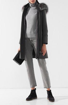 Утепленная куртка с меховой отделкой | Фото №2