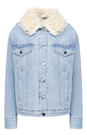 Джинсовая куртка с отделкой   Фото №1