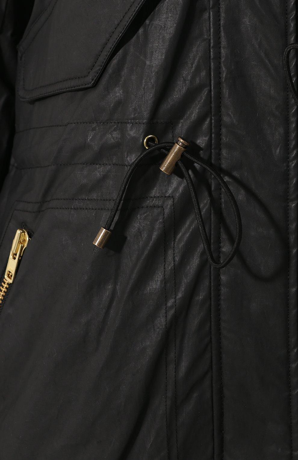 Женская парка с меховой подкладкой SAM черного цвета, арт. XW8237CHB   Фото 5