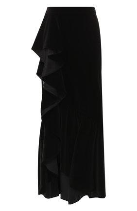 Бархатная юбка-макси | Фото №1
