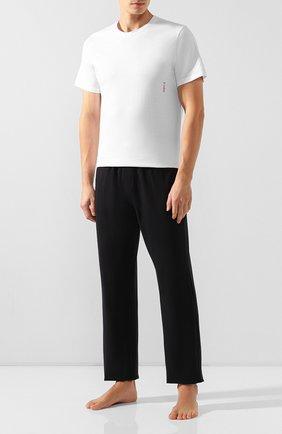 Мужские комплект из двух хлопковых футболок HUGO белого цвета, арт. 50408203   Фото 2