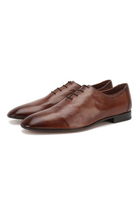 Мужские кожаные оксфорды BERLUTI коричневого цвета, арт. S4342-002 | Фото 1
