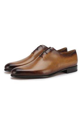 Мужские кожаные оксфорды  BERLUTI коричневого цвета, арт. S4505-001 | Фото 1