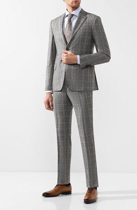 Мужские кожаные оксфорды  BERLUTI коричневого цвета, арт. S4505-001 | Фото 2