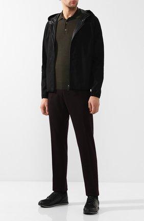 Кожаная куртка с капюшоном | Фото №2