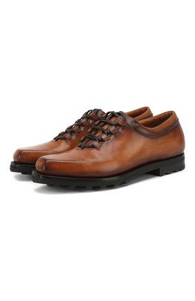 Мужские кожаные оксфорды BERLUTI коричневого цвета, арт. S3451-001 | Фото 1