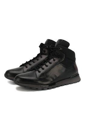 Комбинированные кроссовки Torino с внутренней меховой отделкой | Фото №1
