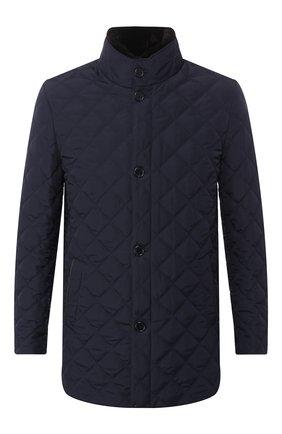 Мужская утепленная куртка с меховой отделкой ANDREA CAMPAGNA темно-синего цвета, арт. M6T76T/4164   Фото 1