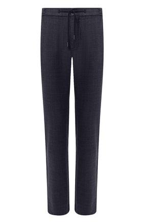 Мужские шерстяные брюки ANDREA CAMPAGNA темно-синего цвета, арт. SPIAGGIA/1/DG0317   Фото 1