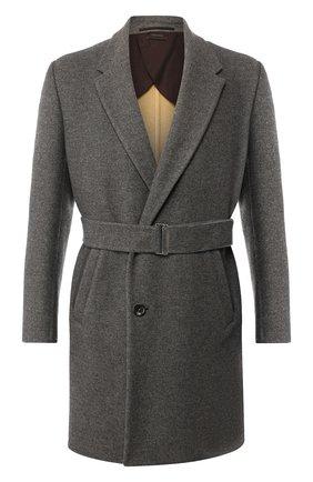 Кашемировое пальто с поясом   Фото №1