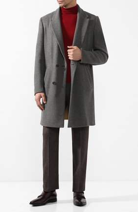 Кашемировое пальто с поясом   Фото №2