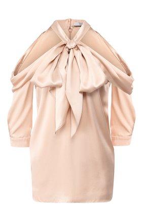 Шелковая блузка с бантом | Фото №1