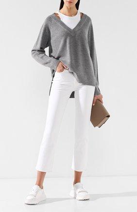 Укороченные брюки из вискозы и хлопка | Фото №2