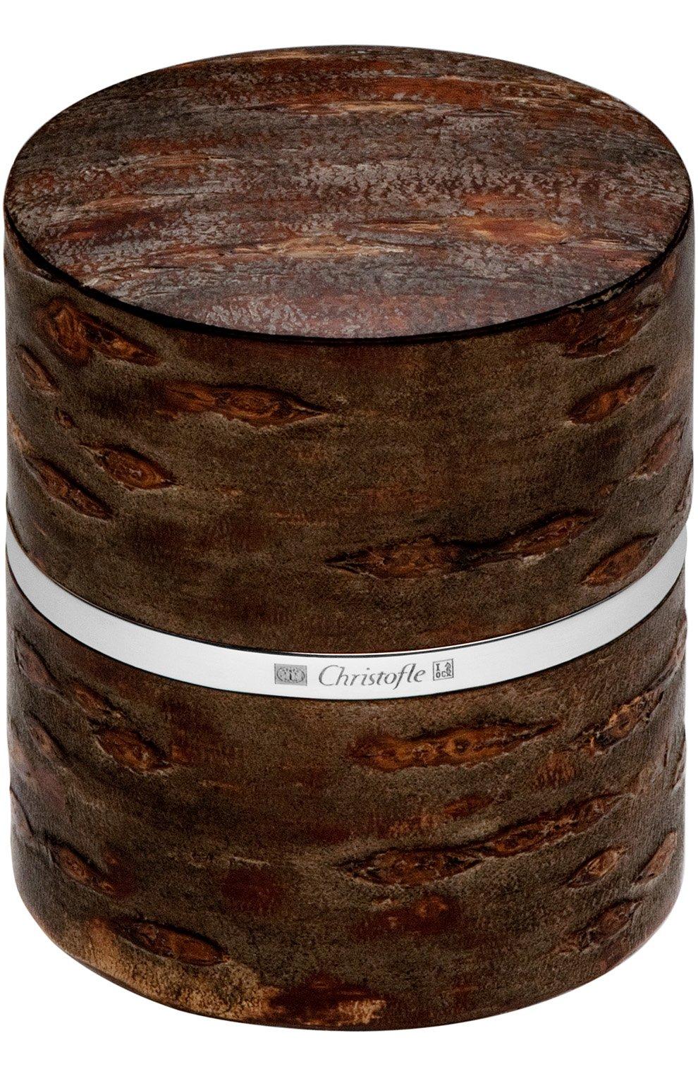 Мужского баночка для чая bark CHRISTOFLE коричневого цвета, арт. 04255120 | Фото 1