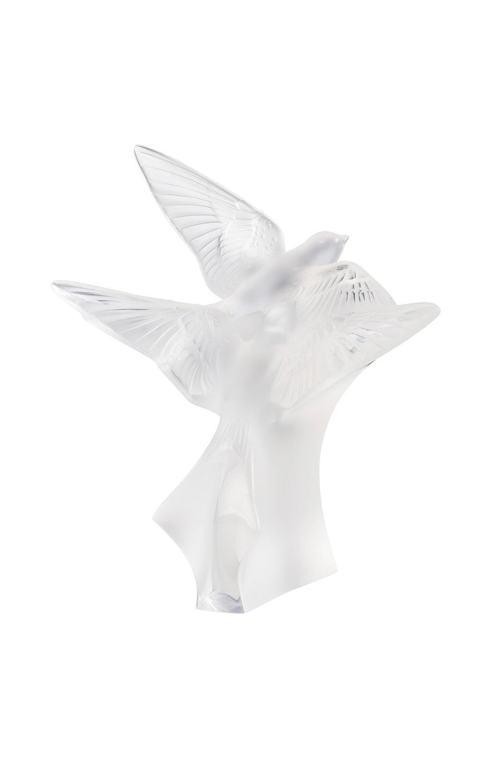 Мужского скульптура 2 hirondelles LALIQUE прозрачного цвета, арт. 10646600 | Фото 1