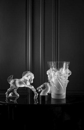Мужского скульптура horse LALIQUE прозрачного цвета, арт. 10647600 | Фото 2