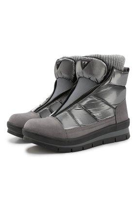 Утепленные текстильные ботинки   Фото №1